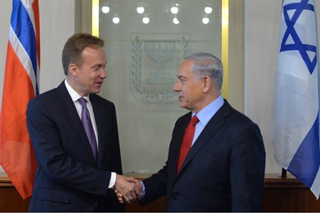Netanyahu meets with Norwegian Foreign Minist
