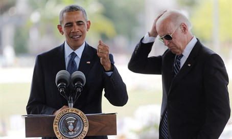 Obama delivers a statement next to Biden after meeting privately with survivors and family